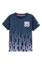 Short-sleeved sports top - Dark blue - Kids | H&M 2