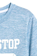 Short-sleeved sports top - Blue marl - Kids | H&M 4