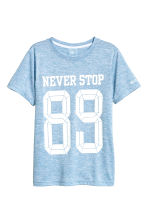 Short-sleeved sports top - Blue marl - Kids | H&M 2