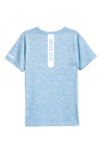 Short-sleeved sports top - Blue marl -  | H&M 3