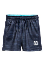 Sports shorts - Dark blue marl -  | H&M 2