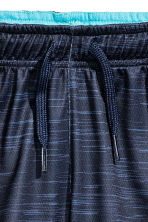 Sports shorts - Dark blue marl -  | H&M 3