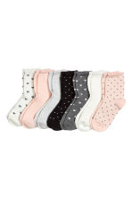 7-pack socks - Dark grey/Hearts - Kids | H&M 1