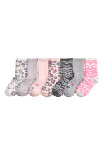 7-pack socks - Light pink/Animal -  | H&M 1