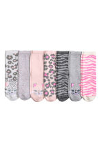 7-pack socks - Light pink/Animal -  | H&M 2