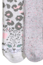 7-pack socks - Light pink/Animal -  | H&M 3