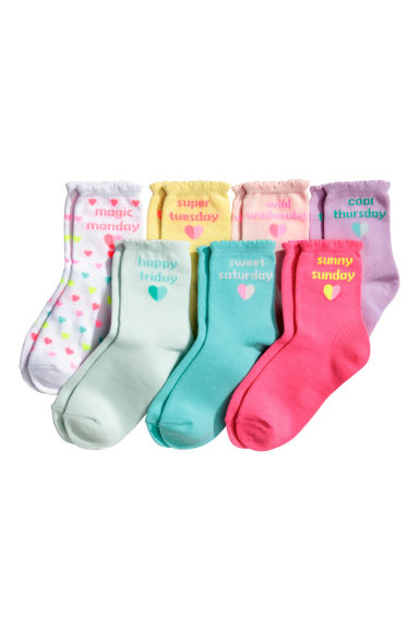 7-pack socks - Light yellow - Kids | H&M 1