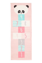 Cotton rug with a motif - Light pink/Panda - Home All | H&M CN 2