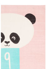 Cotton rug with a motif - Light pink/Panda - Home All | H&M CN 3