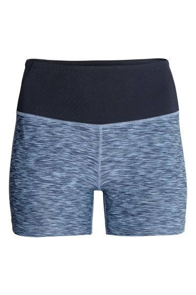 Short yoga tights - Blue marl -  | H&M CN 1