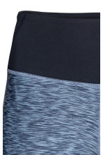 Short yoga tights - Blue marl -  | H&M CN 2