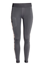 Outdoor tights - Dark grey/Floral - Ladies | H&M 2