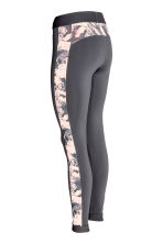 Outdoor tights - Dark grey/Floral - Ladies | H&M 3