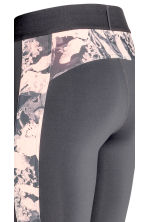 Outdoor tights - Dark grey/Floral - Ladies | H&M 5