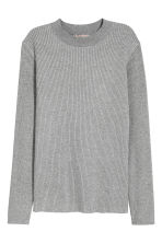 H&M+ Ribbed jumper - Grey marl - Ladies | H&M CN 2