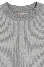 H&M+ Ribbed jumper - Grey marl - Ladies | H&M 3