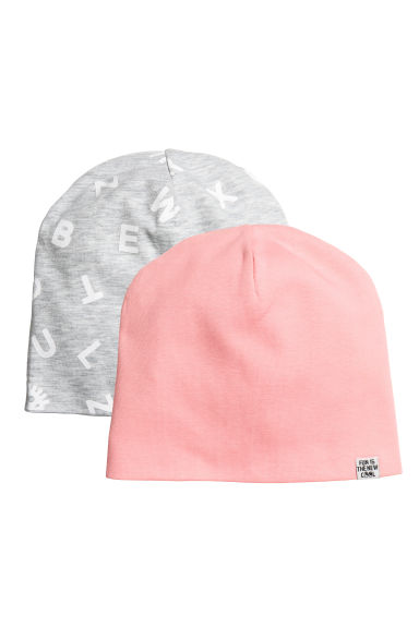 2入裝平紋帽 - Light pink - Kids | H&M 1