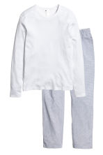 Pyjamas - White/Checked - Men | H&M 2