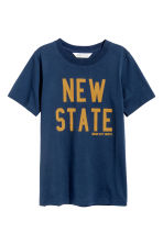 Printed T-shirt - Dark blue - Kids | H&M 2