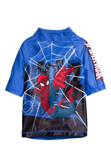 T-shirt with UPF 50 - Blue/Spiderman - Kids | H&M 1