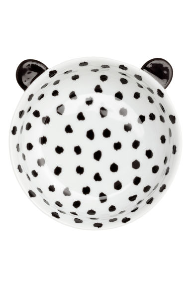Spotted porcelain bowl - White/Black - Home All | H&M CN 1