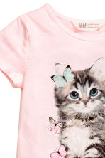 Jersey dress - Light pink/Cat - Kids | H&M CN 3