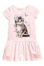 Jersey dress - Light pink/Cat - Kids | H&M CN 2