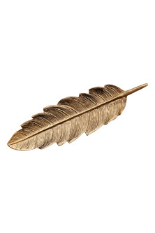 Feather-shaped metal plate