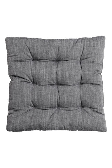 Cotton chambray seat pad - Anthracite grey - Home All | H&M CN 1