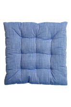 Galette de chaise en coton - Bleu - Home All | H&M FR 1