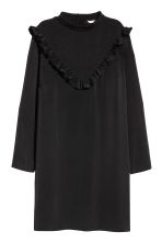 H&M+ Dress with frills - Black - Ladies | H&M 2