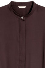 Crêpe tunic - Dark plum - Ladies | H&M CN 3