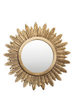 Round metal mirror - Gold - Home All | H&M CA 2