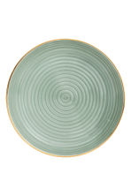 Textured porcelain plate - Dusky green - Home All | H&M IE 2