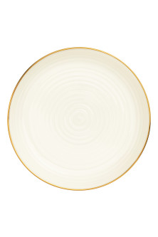 Plato de porcelana con relieve