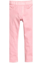Lot de 2 leggings en denim - Bleu denim foncé/rose - ENFANT | H&M FR 4