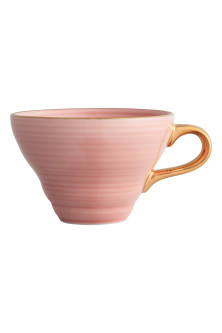 Taza de porcelana con relieve