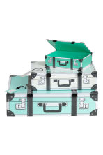 3-pack storage boxes - Turquoise - Home All | H&M CN 3
