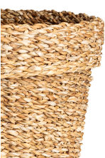 Large seagrass storage basket - Natural - Home All | H&M CN 3