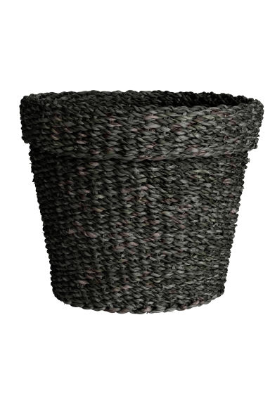 Large seagrass storage basket - Anthracite grey - Home All | H&M CN 1
