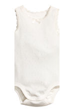 2-pack sleeveless bodysuits - Powder pink -  | H&M 3
