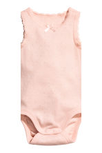 2-pack sleeveless bodysuits - Powder pink -  | H&M 2