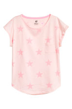 Jersey top - Light pink/Stars - Kids | H&M CN 2