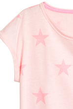 Jersey top - Light pink/Stars - Kids | H&M CN 3