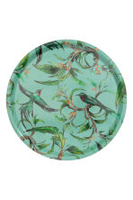 Round tray - Turquoise/Birds - Home All | H&M CN 2