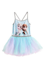 Dance dress with a tulle skirt - Light blue/Frozen - Kids | H&M 2