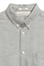 Oxford shirt - Light grey marl - Men | H&M 3