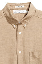 Oxford shirt - Beige - Men | H&M 4
