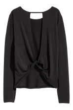 Long-sleeved yoga top - Black - Ladies | H&M CN 2