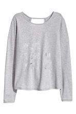 Long-sleeved yoga top - Light grey marl - Ladies | H&M CN 2